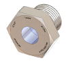 BSPP-Threaded Sight Glass, Borosilicate Fused to Duplex Steel 2205 or Hastelloy Housing