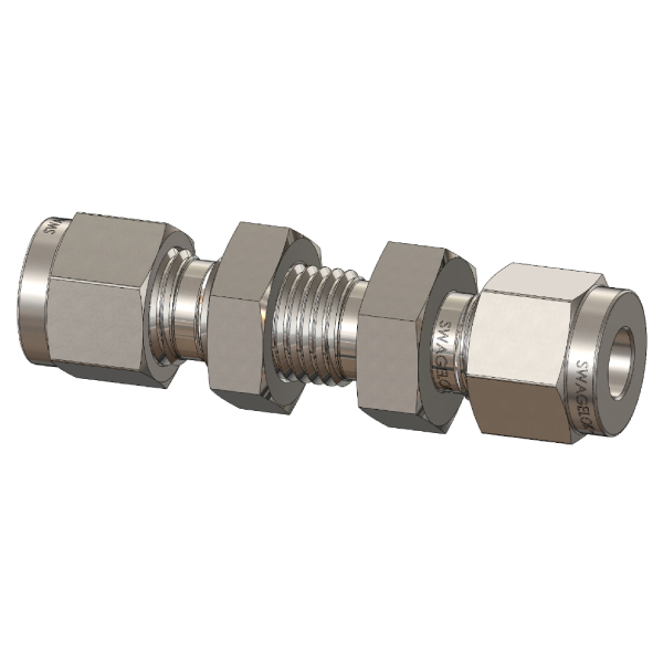 Bulkhead Straight Tube Fitting Union, Metric