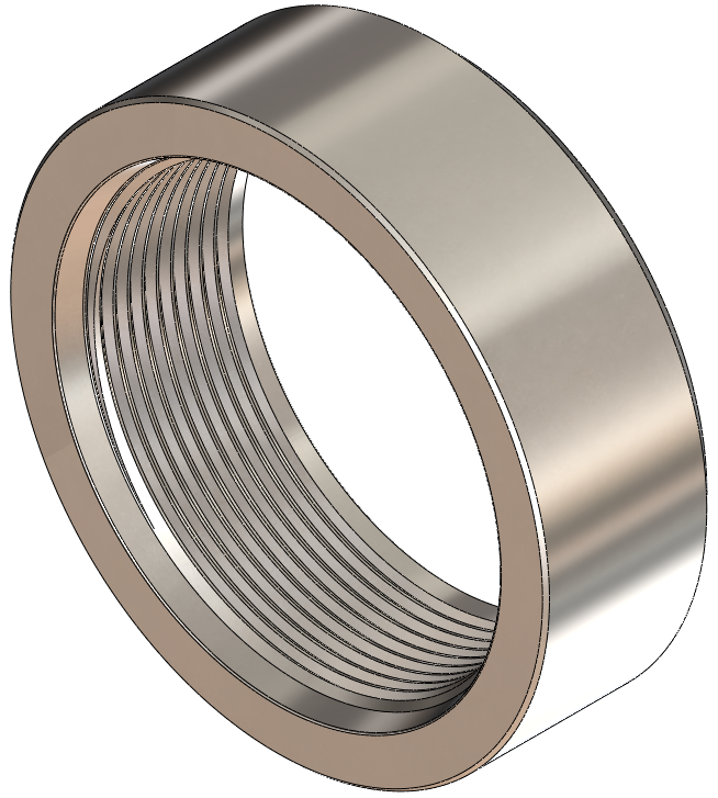 SAE J1926 Weld-On Bung, 316 Stainless