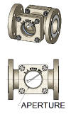 ASME B16.5 Flow Indicators with Flapper in 316 Stainless Steel or Carbon Steel Housings.