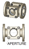 Visual Flow Indicators with ASME B16.5 Flange, in 316 Stainless Steel or Carbon Steel Housing.