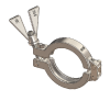 Hygienic Clamps, SH Type I, 316 Stainless Steel, Wing Nut