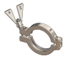 Hygienic Metric Clamps, SH Type I, 316 Stainless Steel, Wing Nut