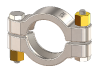 Hygienic Clamps, SSH Type, 304 Stainless Steel, Brass Nuts