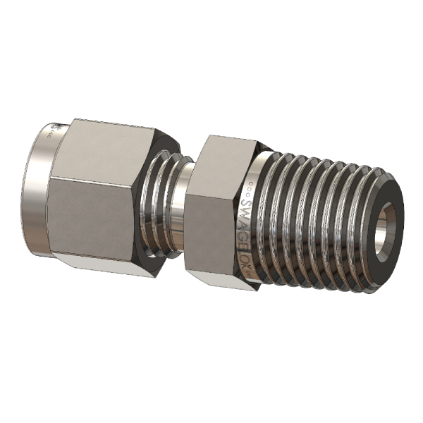 ISO/BSPT Thread Tube Fitting Connector, Metric