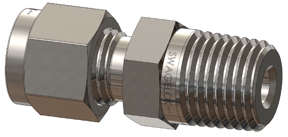 Metirc Tube Fitting to NPT Connector