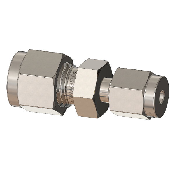 Straight Reducing Union Tube Fitting, Metric