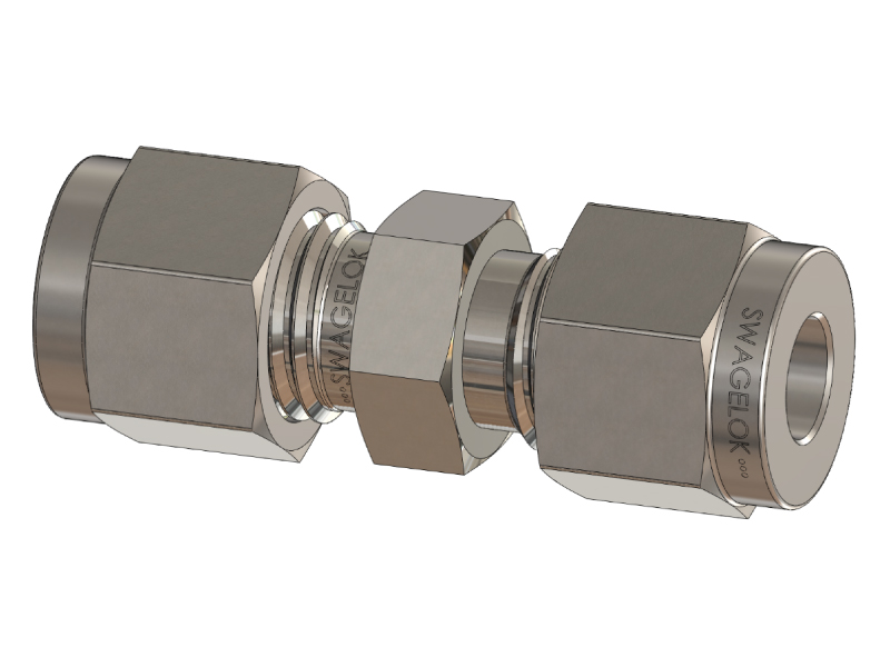 Straight Union Tube Fitting, Metric Size